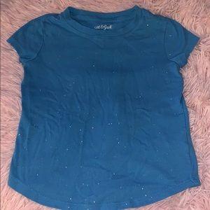 Cat & Jack blue glitter tshirt